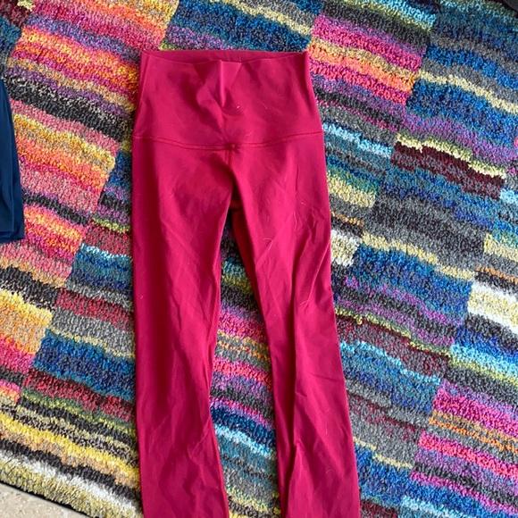 LULULEMON red lulu leggings
